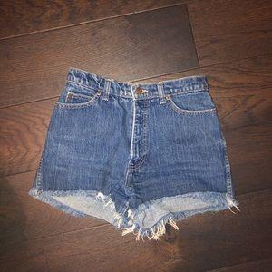 Vintage Calvin Klein denim high waisted shorts